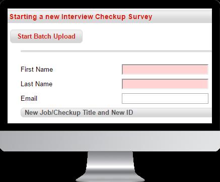 Starting an Interview Checkup