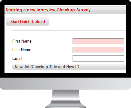 Starting an Interview Checkup